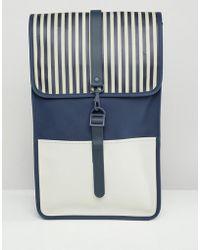 Rains - Distorted Stripe Backpack - Lyst