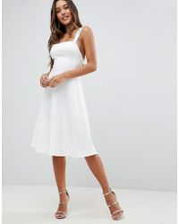 ASOS - Square Neck Prom Dress - Lyst