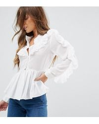 True Decadence - Ruffle Detail Blouse - Lyst