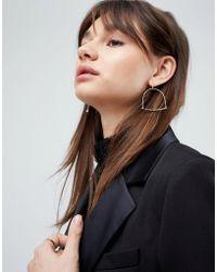 ASOS - Hammered Bar Hoop Earrings - Lyst