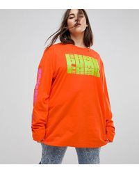 PUMA   Exclusive To Asos Plus Long Sleeve T-shirt In Red   Lyst