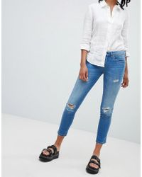Blank NYC - Distressed Skinny Jeans - Lyst