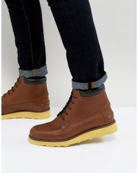 Original Penguin - Copper Lace Up Boots In Tan - Lyst