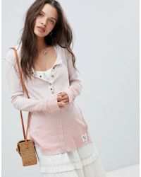 Free People - Cosy Up Henley Top - Lyst
