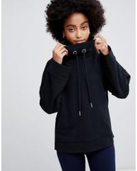 Dr. Denim - High Neck Sweatshirt With Side Seam Logo - Lyst
