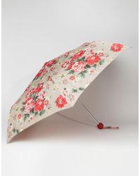 Cath Kidston - Minilite 2 Winter Rose Oat Umbrella - Lyst