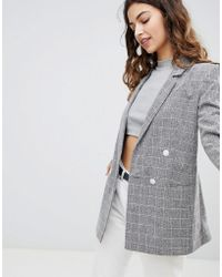 Miss Selfridge - Checked Blazer - Lyst
