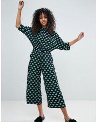 Monki - Fan Print Jumpsuit - Lyst