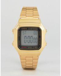 G-Shock - Gold Digital Vintage Style Watch A178wga-1 - Lyst