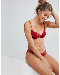 New Look - Lace Longline Balconette Bra - Lyst