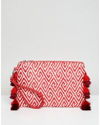 Miss Selfridge - Tassel Clutch Bag - Lyst