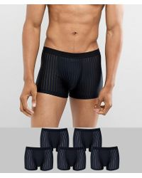 ASOS - Trunks In Microfibre With Mesh Details 5 Pack - Lyst