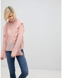 Cotton Candy - Frill Detail Top - Lyst