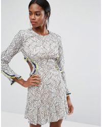 BCBGMAXAZRIA - Bcbgmaxazria Lace Cut Out Dress - Lyst