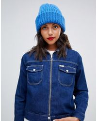Pieces - Chunky Knit Beanie Hat - Lyst