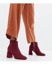 Stradivarius - Zip Detail Heeled Ankle Boot - Lyst
