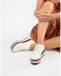 Steve Madden - Greco Leather Flatform Shoe - Lyst