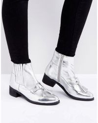 Park Lane - Metallic Leather Hardware Tassel Boot - Lyst