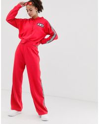 Juicy Couture Juicy By Wide Leg Joggers With Ankle Logo & Taping Two-piece