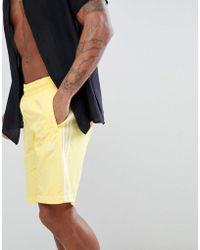adidas Originals - Adicolor Swim Shorts In Yellow Cw1307 - Lyst