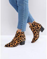 Office - Aruba Leopard Print Boots - Lyst