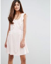 French Connection | Nia Drape Capped Sleeve Mini Dress | Lyst