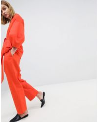 ASOS - Drop Crotch Twill Co-ord Trousers - Lyst