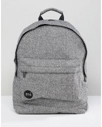 Mi-Pac - Herringbone Backpack In Grey - Lyst