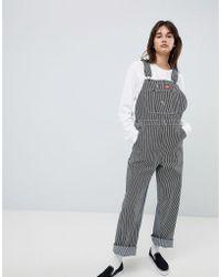 Lyst Adidas Originals Originals Velvet Long Sleeve Jumpsuit With