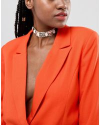 River Island - Necklace In All Over Embellished - Lyst