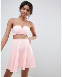 1e88c1f36a379 Chi Chi London Chi Chi Off Shoulder Crop Top Co-ord In Rosegold ...