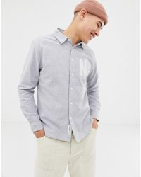 Native Youth - Letter Embroidered Shirt - Lyst