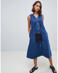 Kowtow - Organic Cotton Denim Pinafore Dress - Lyst