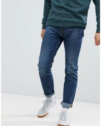 Lee Jeans - Rider Slim Jeans In Blue Storm In Mid Wash - Lyst