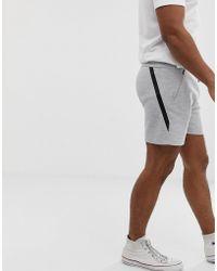 Jack & Jones - Pantalones cortos de punto en gris - Lyst