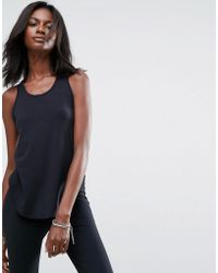Abercrombie & Fitch - Racer Tank With Mesh Detail - Lyst