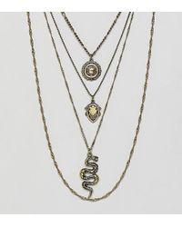 Reclaimed (vintage) - Colliers multi-rangs avec serpent et pice de monnaie - Lyst
