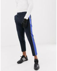 J.Lindeberg - Golf Ivan Micro Stretch Pants With Side Taping In Navy - Lyst