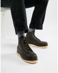 Red Wing - 6 Inch Classic Moc Toe Boots In Charcoal Leather - Lyst