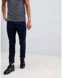 Mango - Man Slim Jeans In Dark Blue - Lyst