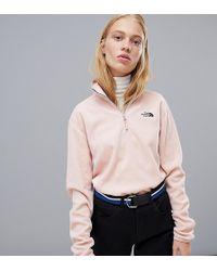 The North Face - Exclusive To Asos 100 Glacier 1/4 Zip Fleece In Pink - Lyst