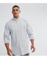 Polo Ralph Lauren - Tall Grid Check Oxford Shirt In White - Lyst