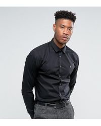 Farah - Tall Classic Shirt In Slim Fit With Stretch - Lyst