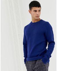 Jack & Jones - Premium Knitted Jumper With Straight Edge Hem - Lyst