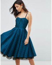 Hell Bunny - Polka Dot Prom Dress - Lyst