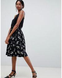 Liquorish - Floral Pleated Prom Skirt - Lyst