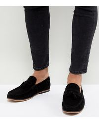 ASOS DESIGN Wide Fit Loafers In Woven Leather OR511EyMmK