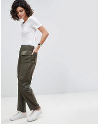 ASOS - Asos Tailored Matte And Shine Soft Utilty Pant - Lyst