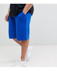 ASOS - Design Plus Jersey Oversized Shorts In Bright Blue - Lyst