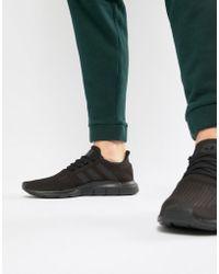 adidas Originals - Swift Run Trainers In Black - Lyst